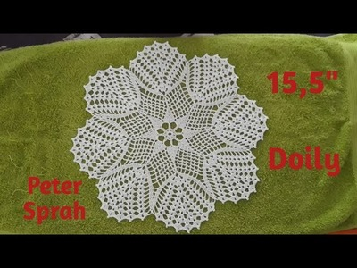 """How to crochet 15,5"""" Doily - Video tutorial"""