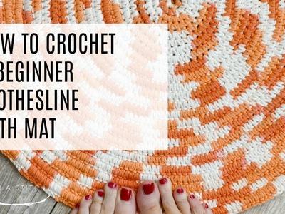 How To Crochet A Clothesline Bath Rug