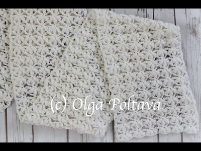How to Crochet Lace Stitch for  Scarf or Baby Blanket, Free Crochet Pattern and Video Tutorial