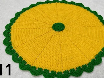 How to Crochet Thaalposh. Thaal Cover. Table Top #11