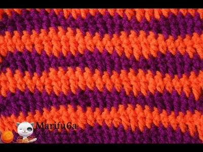 How to crochet WAVES STITCH free pattern for beginners