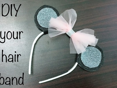 How To Design Hair Band with Glitter Sheets By The Ambari