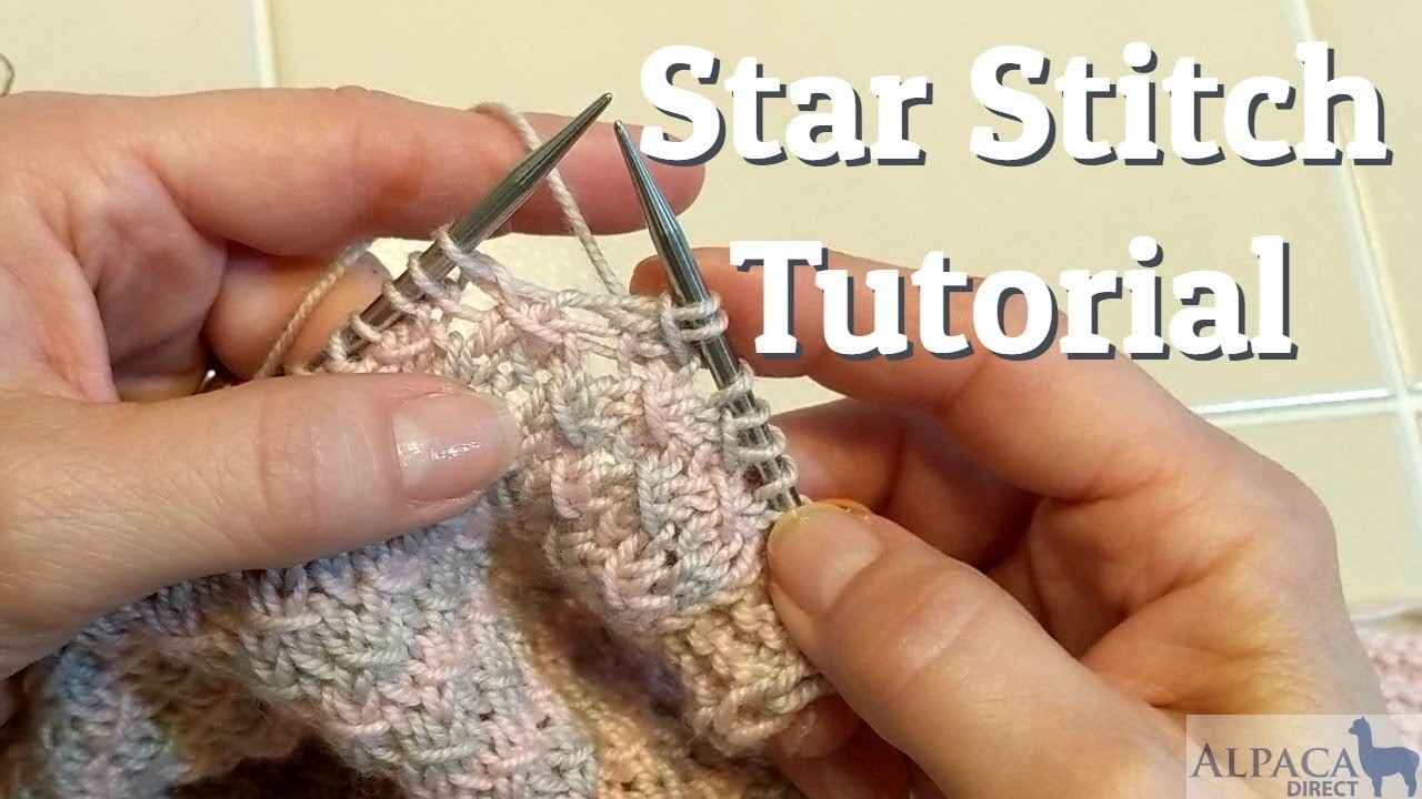 How To Knit the Star Stitch - Knitting Tutorial