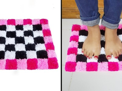 How to make doormats using woolen || Doormats making idea || উলের সুতা দিয়ে নাইস পাপোশ তৈরি