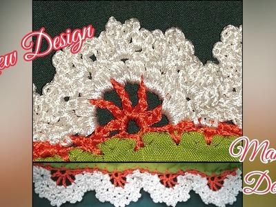 How to make lace design arch for saree kuchchu   New design   (Design - 46)