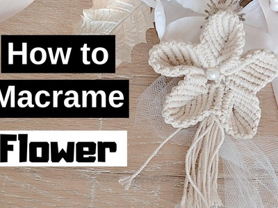 ???? How to Make Macrame Flowers (with Pearl Beads) - Part 1 of 2 Series
