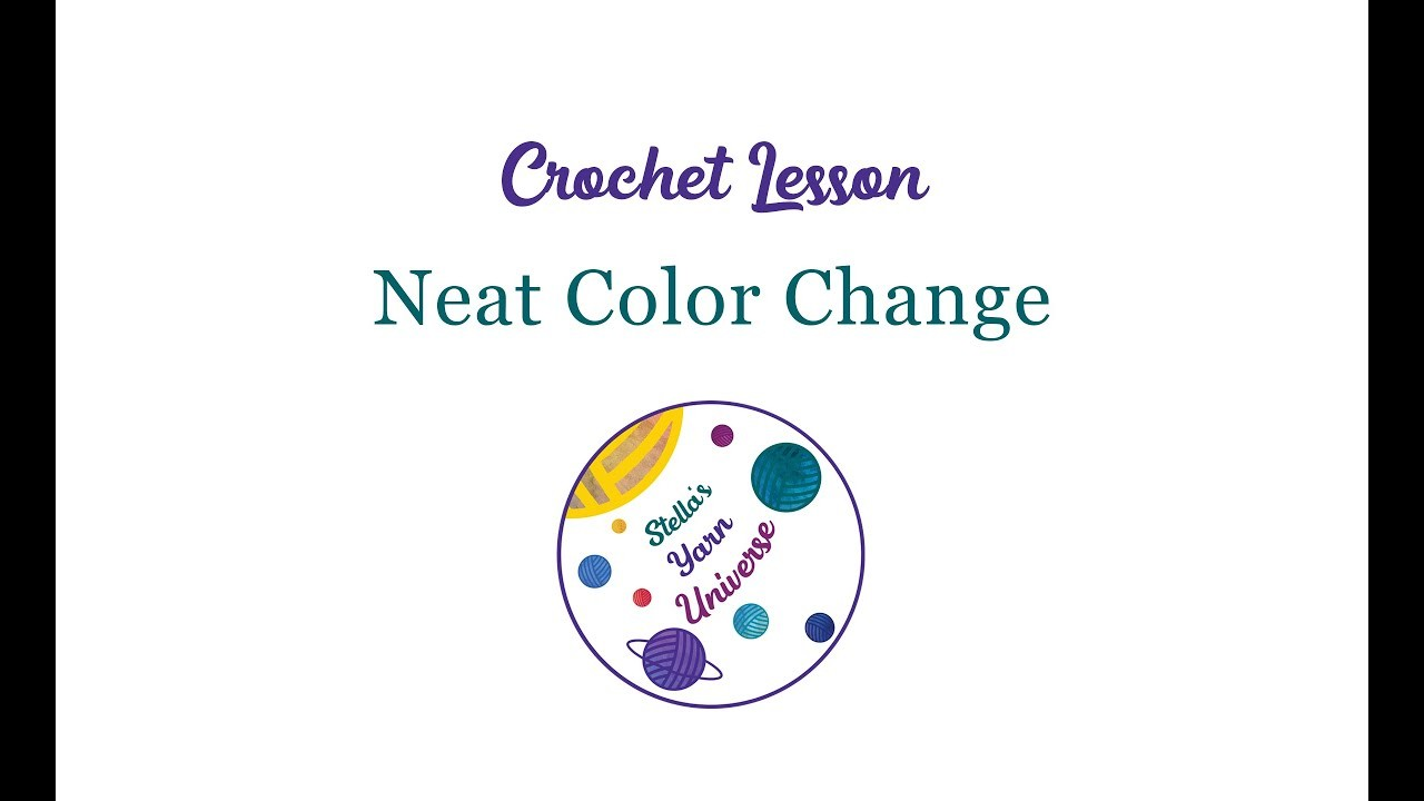 How to make neat color changes in single crochet