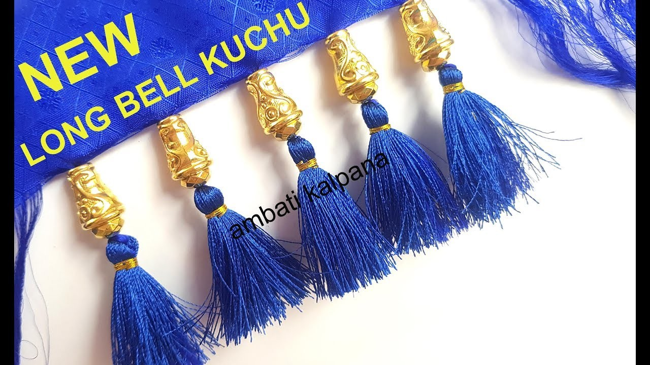 How to Make Saree Pallu Knots with Crystal Beads. Silk saree Pallu Knots Design 2019