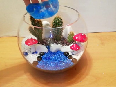 How to make Terrarium with cactus and mushrooms