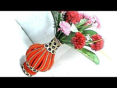How to Make Woolen Flower Vase | DIY Innovative Ideas Of Flower Vase | #RS crafts