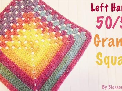 Left Handed Crochet: The 50.50 Granny Square - 1 square, 2 designs!