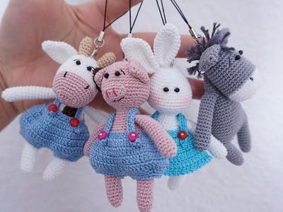 Piggy keychain crochet tutorial