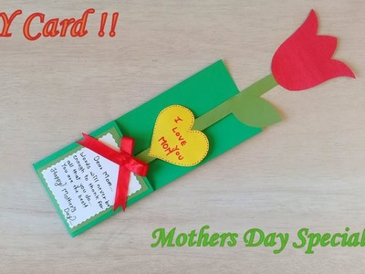 Pretty Easy Mother's Day Special Card   Diy Mother's Day Card. Aashu Art & Craft