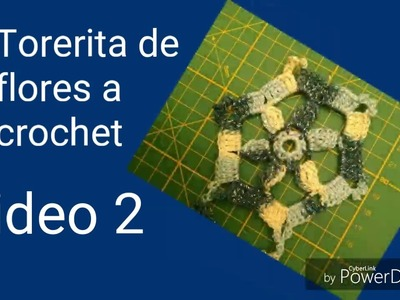 TORERITA DE FLORES HEXAGONALES A CROCHET