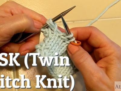 TSK (Twin Stitch Knit) Knitting Tutorial For Short Row Heels