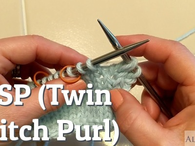 TSP (Twin Stitch Purl) Knitting Tutorial For Short Row Heels