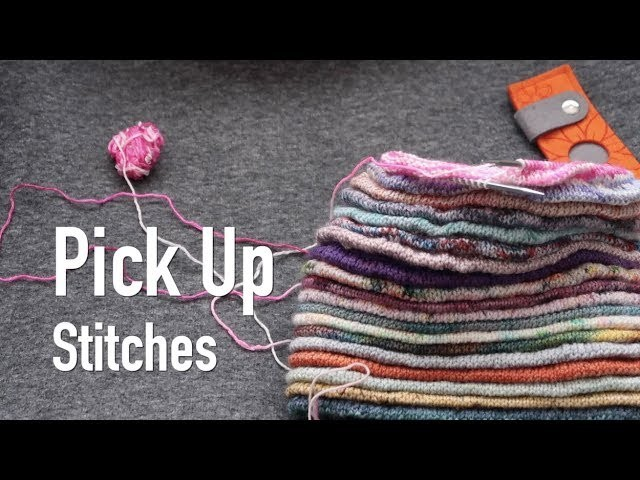 TUTORIAL ❤︎ Pick Up Stitches in Full of Minis Hat  ❤︎ How I.   knitting ILove