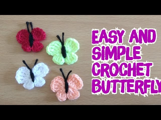 Very easy and simple crochet butterfly .DlY Crochet Tutorial