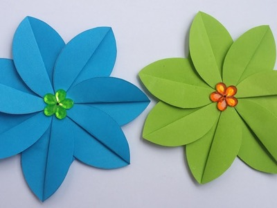 DIY: Paper Flower!!  How to Make Beautiful Paper Flower For Wall. Room Decoration!!!