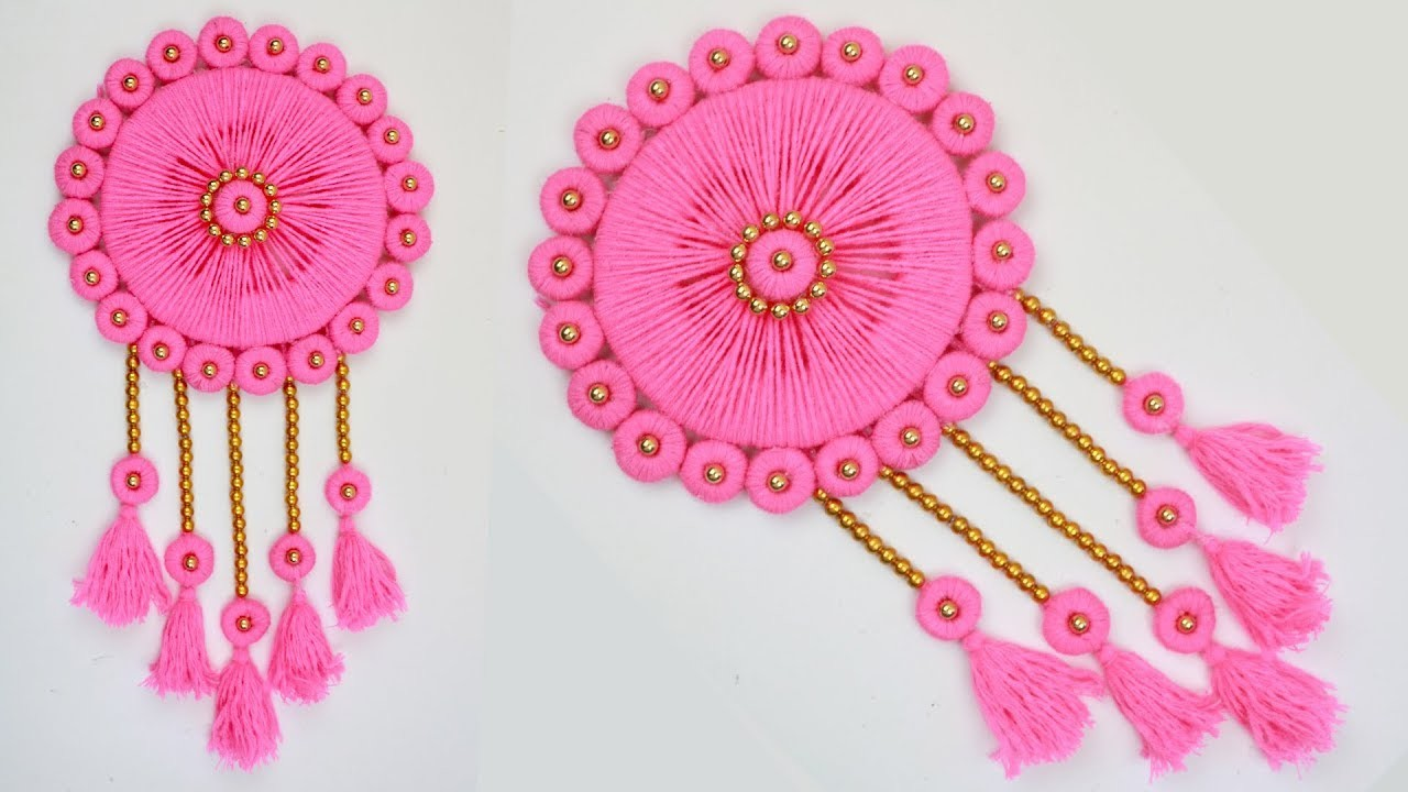 DIY WOOLEN Wall Hanging How to Make Beautiful Wall Hanging With Newspaper Woolen