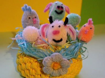 Easter Crafts | How To Make a Pom Pom Easter Crafts | Easter Crafts For Kids