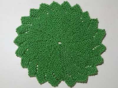 Flower shape Table mat. Thalposh. Coaster knitting design