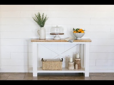 How To Build A Farmhouse Table for $40