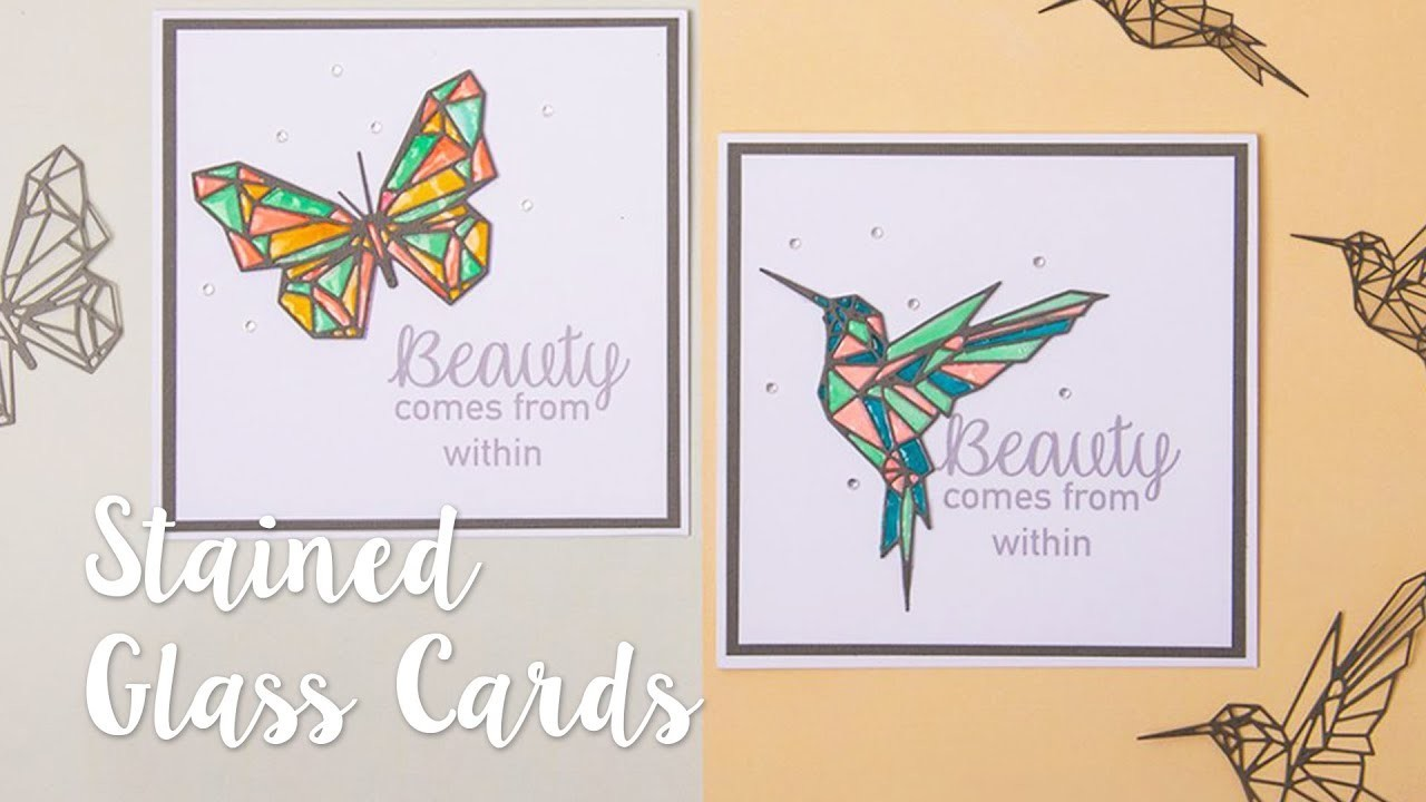 How to create a stained glass effect using die cuts!