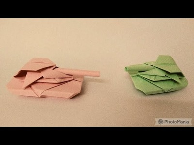 How to create an origami tank #1