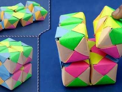 How to Fold Paper Cube | DIY Paper Projects !!!