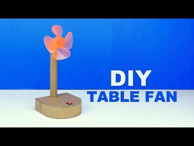 How to Make a Electric Table Fan from Cardboard Easy diy at Home