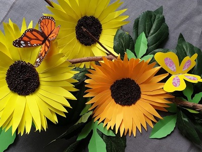 How to make a paper Sunflower from Post-it notes  ||  Best Post it notes craft idea
