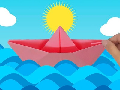 How to make an origami boat out of paper with your own hands