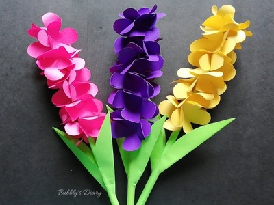 How to make Beautiful lavender paper flowers - DIY Paper Flowers