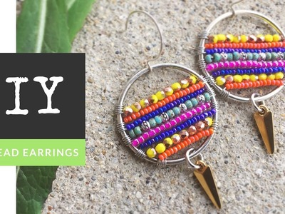 How To Make Circle Of Life Earrings with Seed Beads and Wire