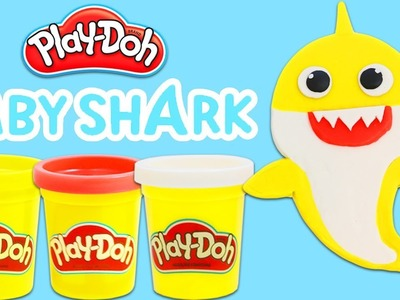 How to Make Cute Play Doh Baby Shark | Fun & Easy DIY Play Dough Arts and Crafts!