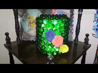 How to make decoration piece with Glass beads , lamp or candle stand