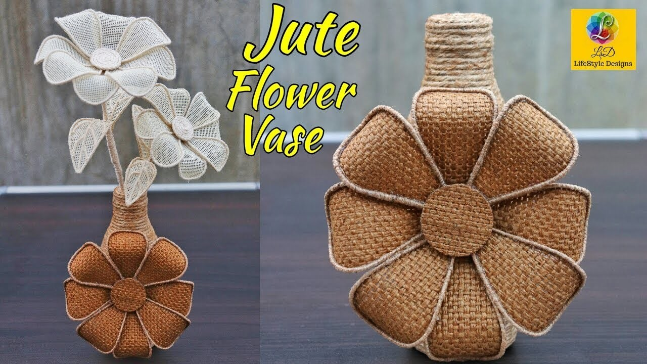 How to make decorative Jute flower vase | DIY Jute Flower Pot | Best out of waste Jute Craft Idea