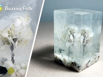 How to make Dried Flowers and Resin Paperweight. Resin ART ????