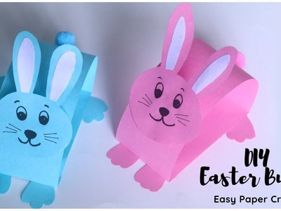 How To Make Easter Bunny | EASY Paper Crafts for Kids | Paper Rabbit Easy