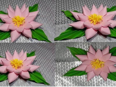 How to make easy and simple paper flower paper crafts banane ka tarika sikhaye.mixchannel