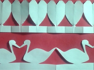 How to Make Paper Heart & Duck Chains-DIY
