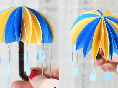 How to Make Paper Umbrellas - Paper Crafts for kids