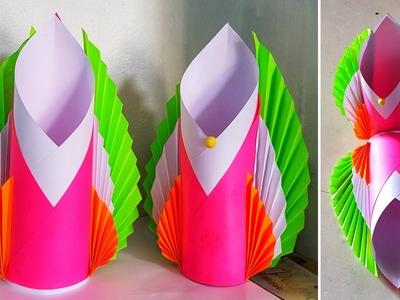 How to make paper vase at home || Paper flower vase || Diy paper flower vase || #3