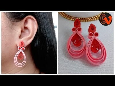 How to make quilling earrings for beginners. Quilling Earrings Making