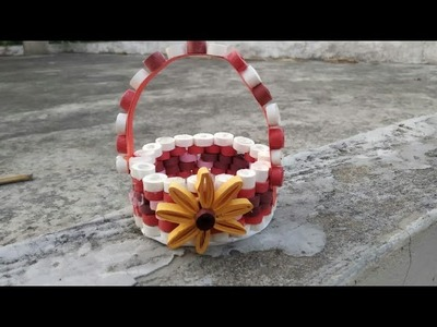 How to make quilling paper basket