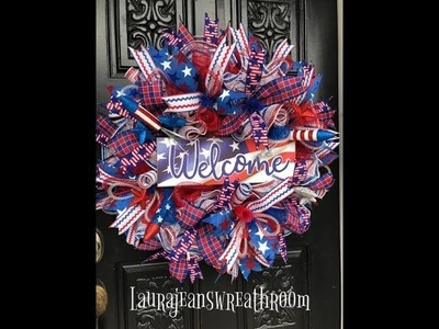 How to Make the Patriotic Wreath Kit with Laura Jeans Wreath Room