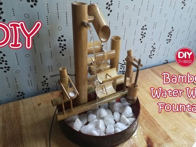 How to Make Water Wheel Fountain Using Bamboo | The Most Creative Fountain
