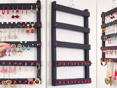 Ladies Special !!! Easy DIY Idea || How to Make Earring Stand Easily