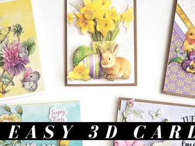 LIVE - How to Make Layered 3D Cards - Wed Card Making Series #14